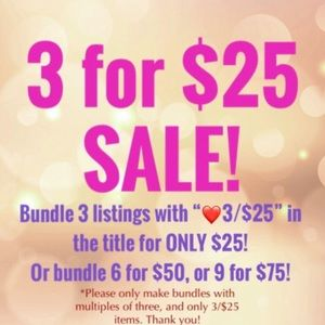 ❤️ 3 FOR $25 SALE!! ❤️